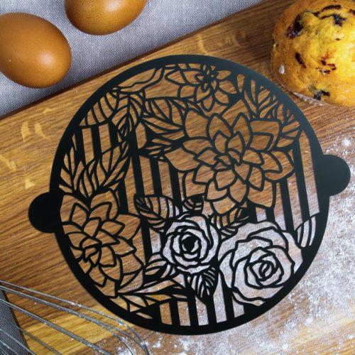 Трафарет для торта «Цветы»