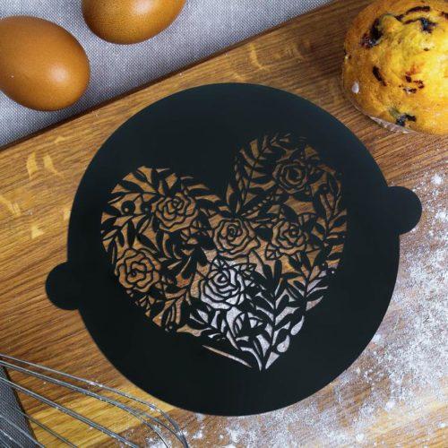 Трафарет для торта «Сердце»