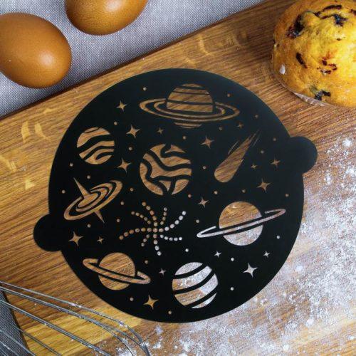 Трафарет для торта «Космос»