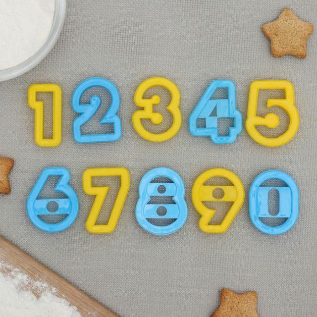 Набор форм для печенья «Цифры»
