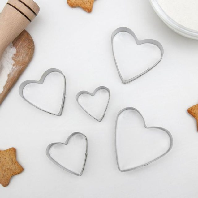 Набор форм для печенья «Сердечко»