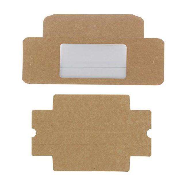 Коробка для макаронс 18×11×5,5 см крафт