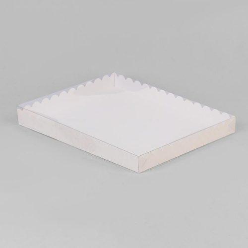 Коробка для печенья 23,5×30×3 см белая