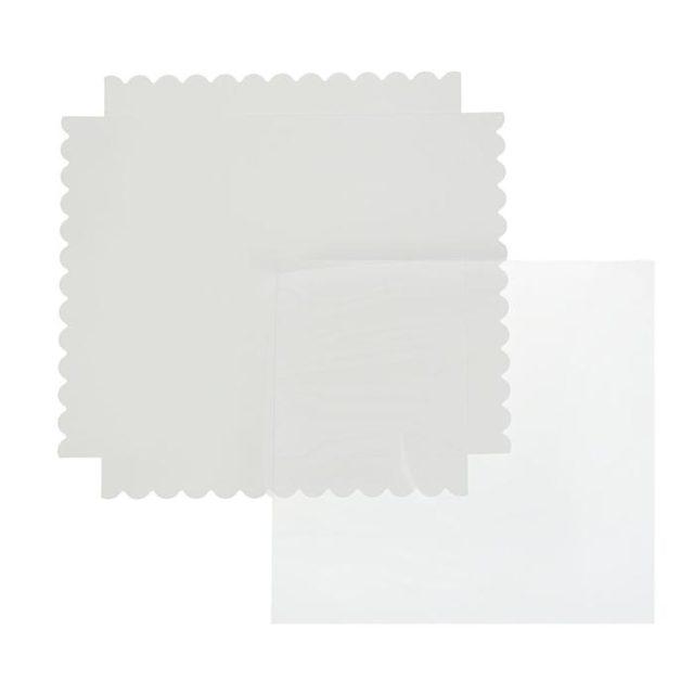 Коробка для печенья 25×25×3 см белая