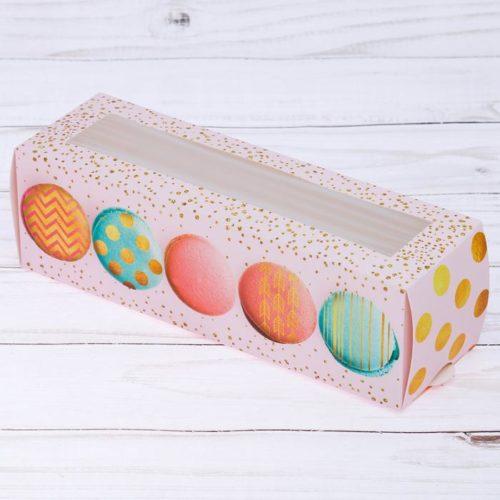 Коробка для макаронс 18×5,5×5,5 см