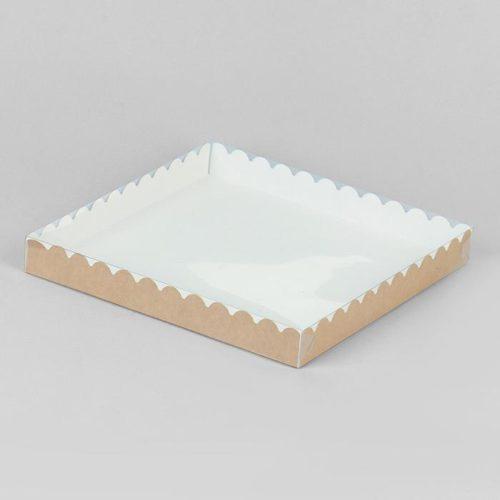 Коробка для печенья 25×25×3 см крафт