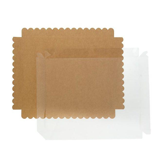 Коробка для печенья 30×23,5×3 см крафт