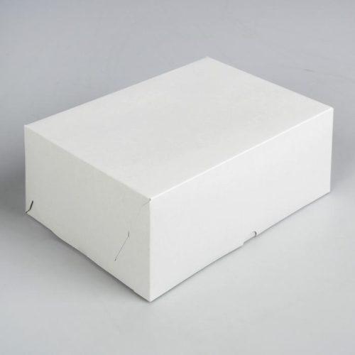 Коробка на 6 капкейков - белая