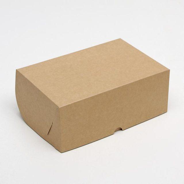 Коробка на 6 капкейков - крафт
