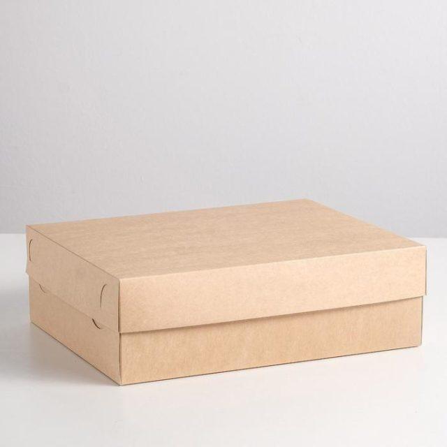 Коробка на 12 капкейков - крафт