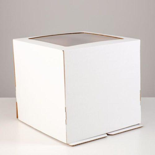 Коробка для торта с окном 25×25×24 см