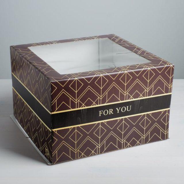 Коробка для торта «For You» 30×30×19 см