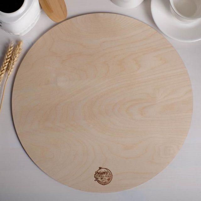 Подложка для торта деревянная d=36 см h=0,6 см
